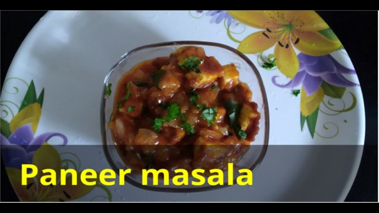 How to make Paneer masala / Paneer gravy for chappathi (in ...