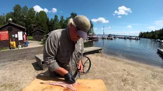 Smith Camps Walleye Cleaning Demonstration: Boneless Fillets With Maximum Yield