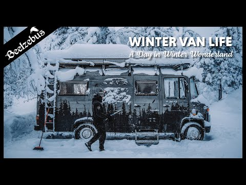 Winter Van Life - A Day in Winter Wonderland at Fulufjällets National Park