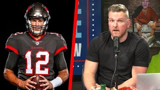 Pat McAfee Reacts To The First Look At Tom Brady As A Buccaneer