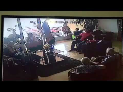 Thief in Canada Payless car rental office