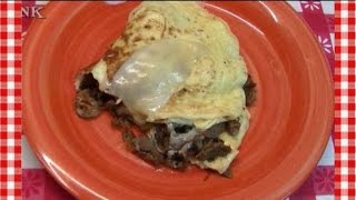 Philly Cheesesteak Omelette Leftover Makeover ~ Noreen's Kitchen