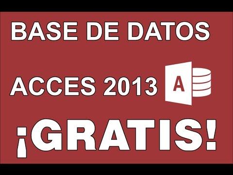 Base de Datos Acces 2013 GRATIS | MEGA