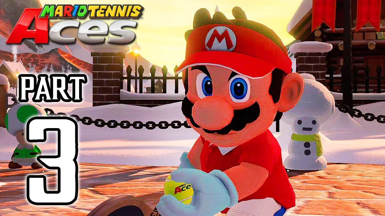 MARIO TENNIS ACES Walkthrough PART 3 (Adventure Mode) @ No Commentary 1080p (60ᶠᵖˢ) HD ✔