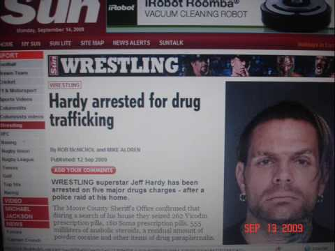 Jeff Hardy Arrested for Drug Trafficking charges