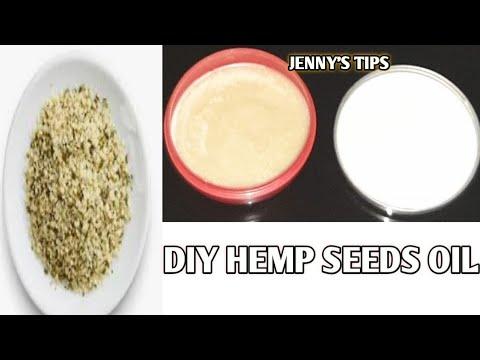 How to prepare DIY hemp seeds oil for hair & skin