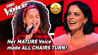 All Chairs Turned for this young girls BEAUTIFUL DEEP voice in The Voice Kids Germany 2021! |Road To
