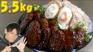 【MUKBANG】An Enormous Plateful Hamburger Steak 5.5 kg