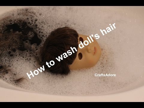 How To Wash American Girl Doll's Hair Tutorial ~HD~
