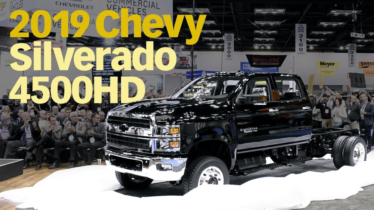 2019 Chevrolet Silverado 4500hd Medium Duty Truck Reveal Youtube
