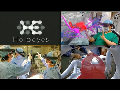 HoloLens Mixed Reality Surgery: holographic augmented mixed reality navigation (HoloEyes VR 2016)