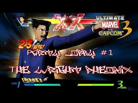 Umvc3 - Party Lobby #1 - The Wright Pheonix