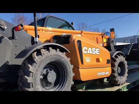 Телескопический погрузчик CASE TX 170-45 едет работать.
