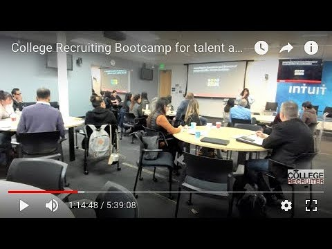 College Recruiting Bootcamp for talent acquisition leaders: Livestream from Intuit headquarters