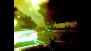 Горьковское шоссе в Балашихе ,сгорел авто