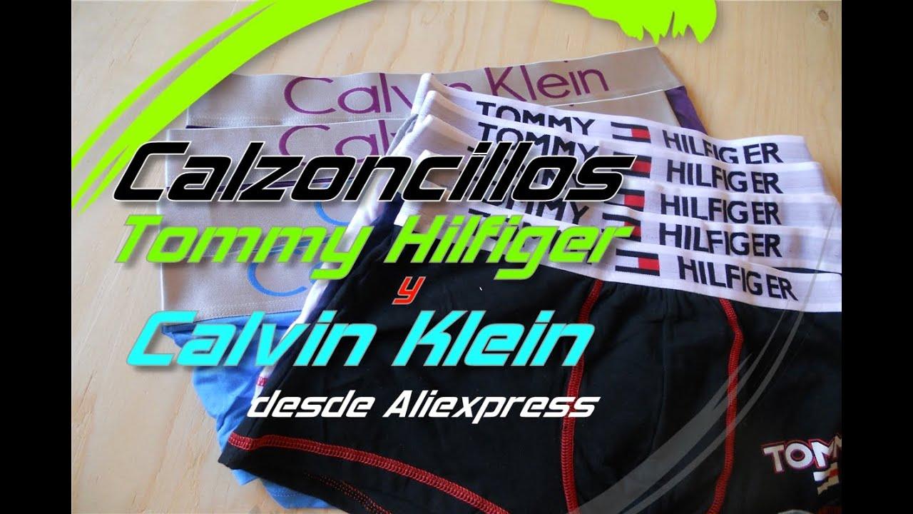 Calzoncillos Tommy Hilfiger y Calvin Klein desde Aliexpress