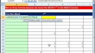 Excel Magic Trick 365: Return First Non-Blank (Not An Array Formula)