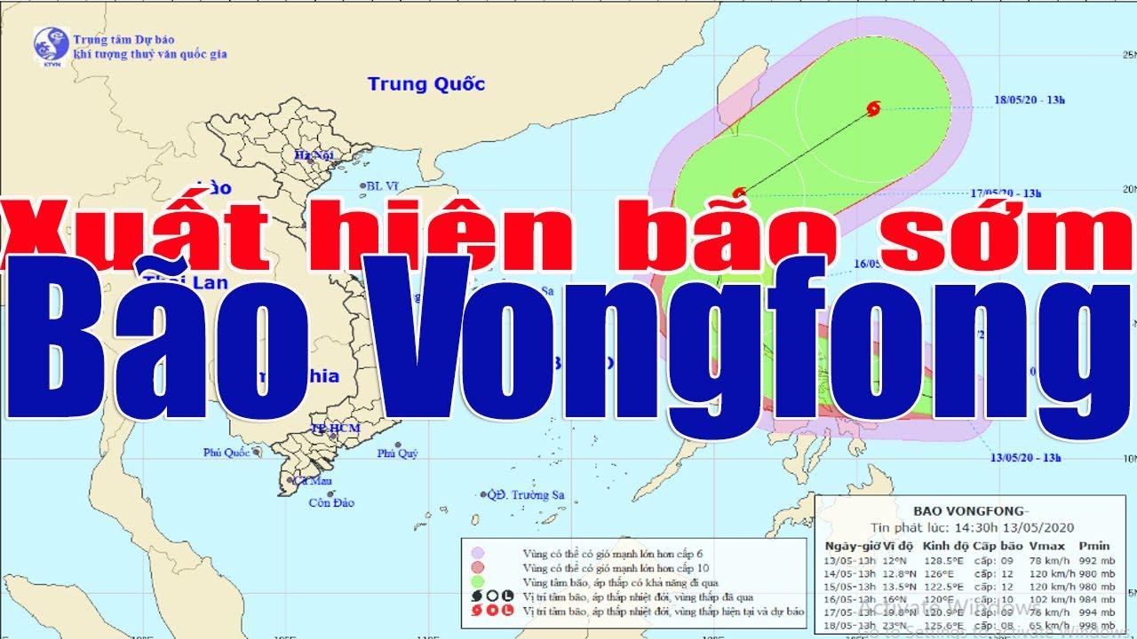 Tin thời tiết:Xuất hiện bão sớm-bão Vongfong không vào biển Đông nhưng kích mưa Nam Bộ