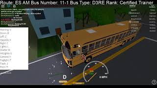 Roblox ~ Plett Bus Services ~ ES AM route