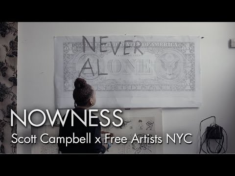 """""""Scott Campbell for Free Artists NYC"""" by Felipe Lima"""