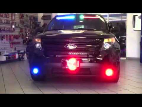 HG2 Emergency Lighting Ford Interceptor SUV Front Lighting Package YouTube