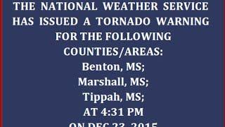 EAS: Tornado Emergencies of Dec 23, 2015