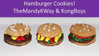 Hamburger Cookies Dessert - Themandykway With Kongboys