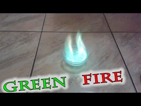 Как сделать зеленый огонь в домашних условиях