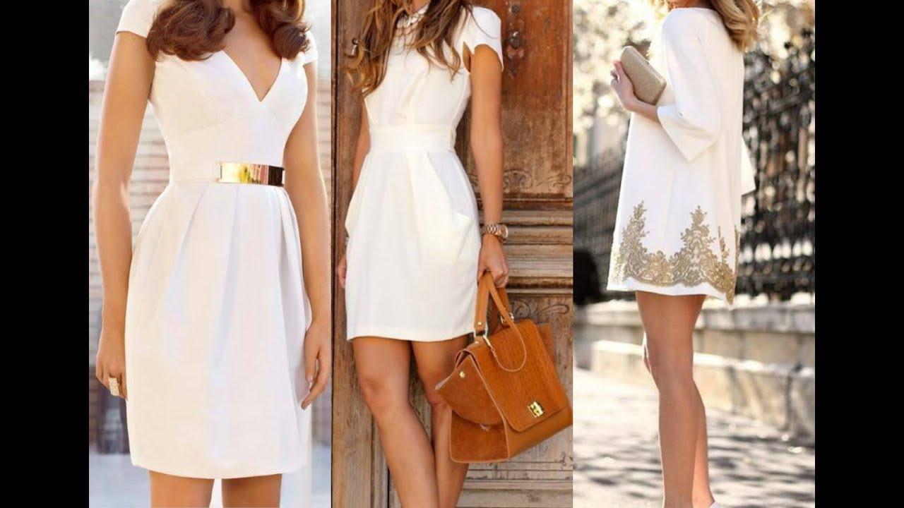 a3c3a8304a Vestidos casuales en color blanco - Lo mejor en Vestidos Blancos - Hermosos