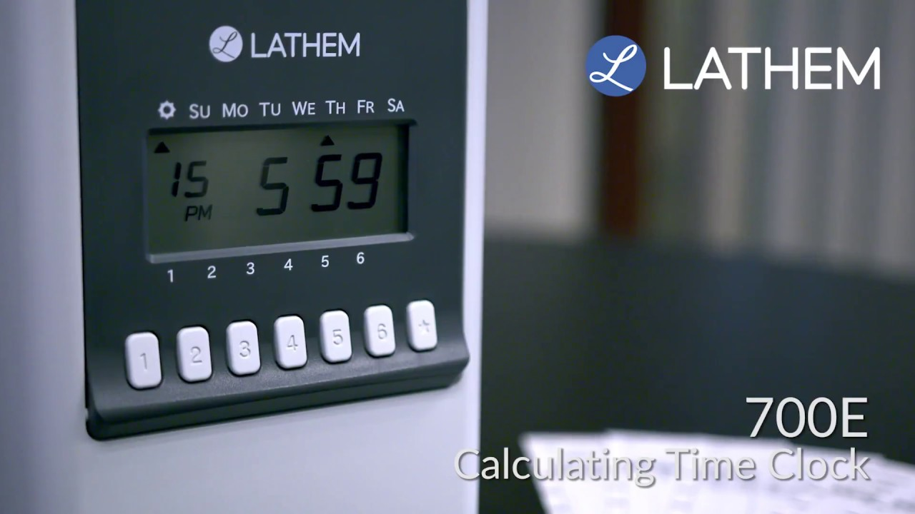 lathem 700e calculating time clock youtube