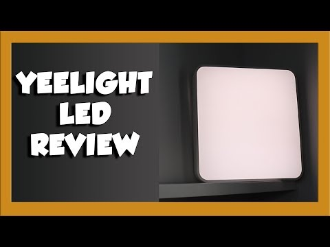 YEELIGHT Smart Square LED Ceiling Light Review and Installation