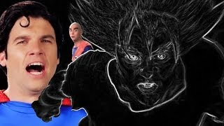 Over 9000 Goku vs Screamo Superman - Epic Rap Battles of Nope