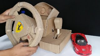 How to build Ferrari car steering remote for your RC car from cardboard
