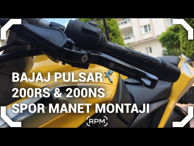 Spor Manet Montajı - Bajaj Pulsar 200RS - TR'de İLK! [RPM]