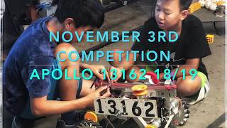 Apollo 13162 Sequoia High School FTC Competition 11/3/18