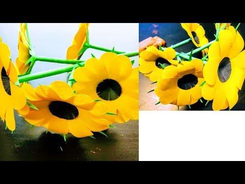 DIY| Easy Paper Flower Stick | Paper Crafts | CrazeeCrafts