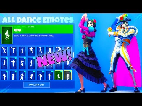 NEW! Day Of The DEAD SKINS With 50+ Dance Emotes SHOWCASE! Fortnite Battle Royale
