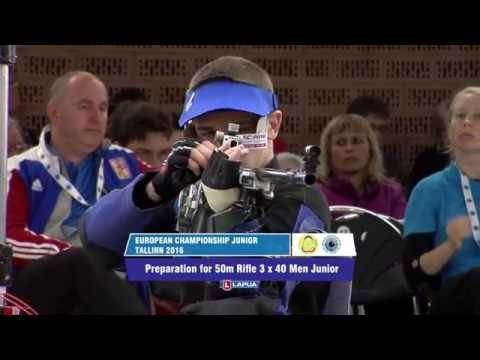 European Championship Juniors 25/50m Rifle and Pistol, Tallinn, Estonia - 50m Rifle 3x40 Men Junior