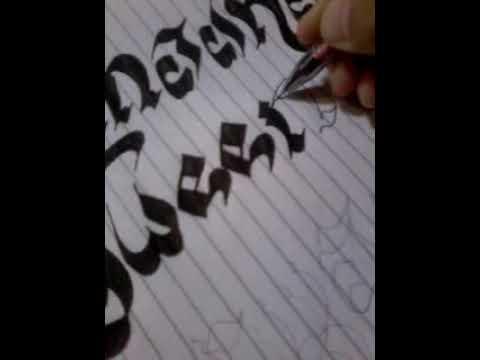 Cara Mewarnai Kaligrafi Menggunakan Pulpen Youtube