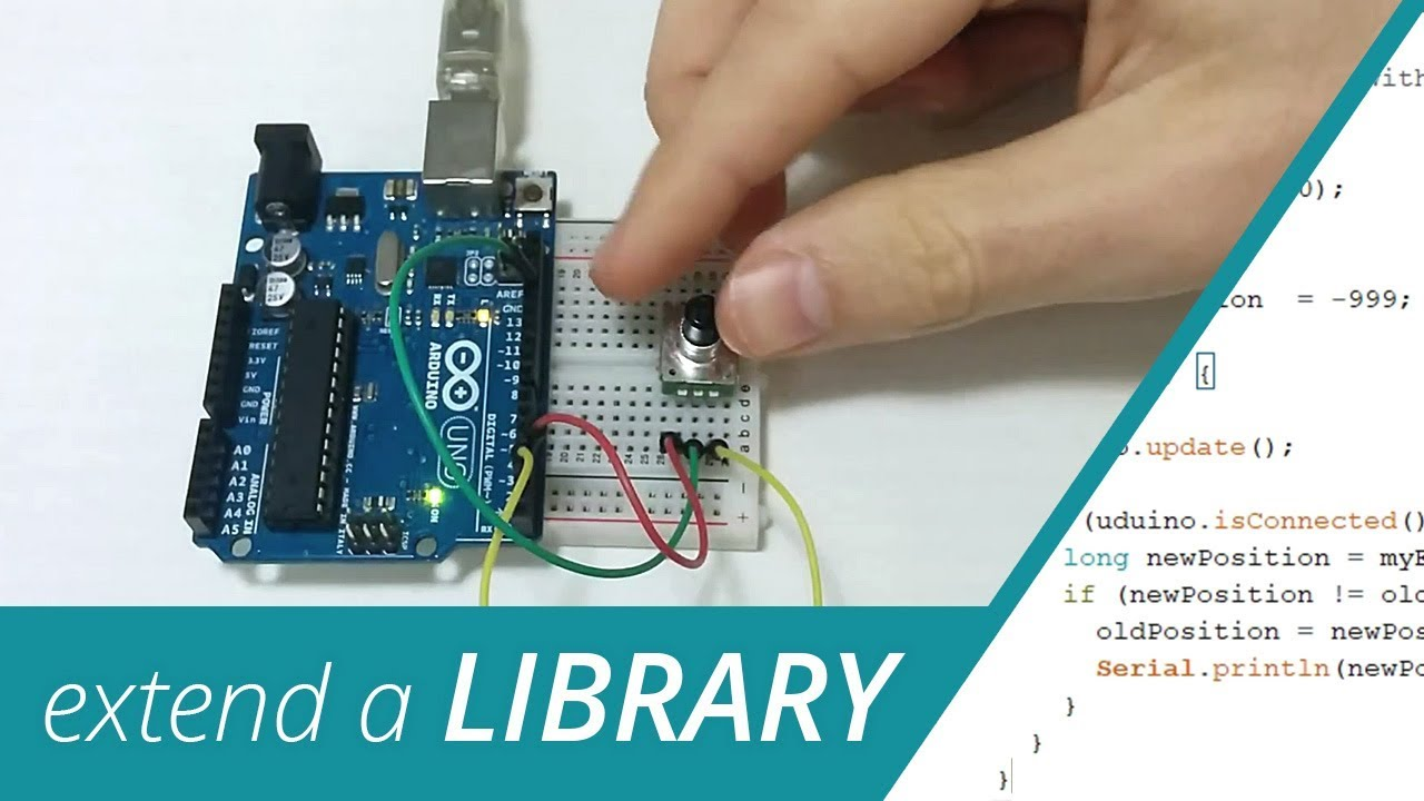Extend an existing Library - Using an Encoder in Unity - Uduino tutorial