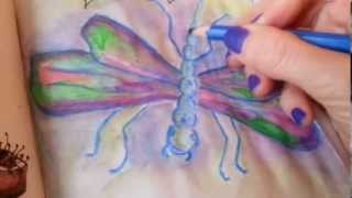 Short dragonfly drawing video