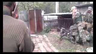 Бои. Выпуск 2. Бои в Никишино. Рота Байкера пристреливает АГС по блокпосту украинцев в Никишино