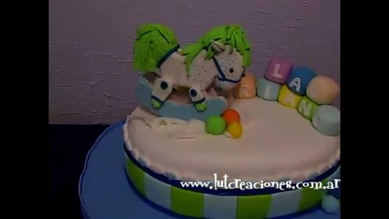 Torta decorada el bautismo de lauriano lut creaciones for Tortas decoradas faciles