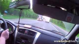 Обучение вождению на машине ученика. Урок № 10 часть 4 Обгон
