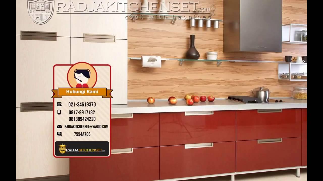 Kitchen set minimalis jakarta barat 081389424220 youtube for Kitchen set jakarta