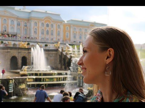 Смотреть Моя экскурсия в Петергоф (fountains of Peterhof) онлайн