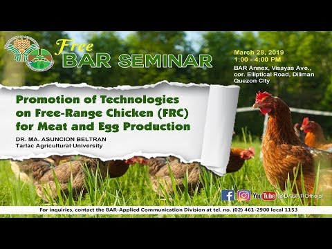 Promotion Of Technologies Of Free Range Chicken FCR For Meat And Egg Production P1