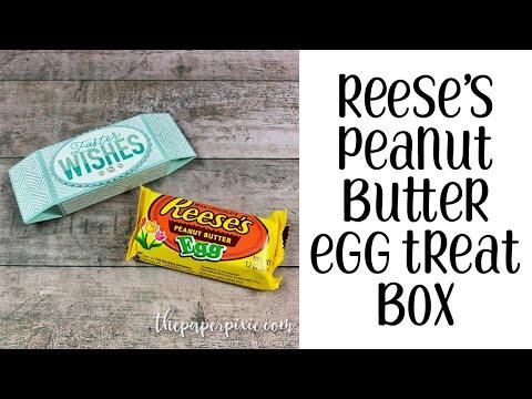 Reese's Peanut Butter Egg Treat Box Tutorial