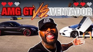 MERCEDES-BENZ AMG GT vs Lamborghini Aventador FT @Tall Guy Car Reviews