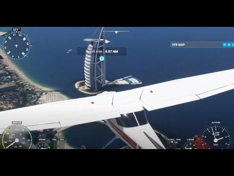 Microsoft Flight Simulator 2020 – Cessna 152 : Dubai (Burj Al Arab & Princess Tower)
